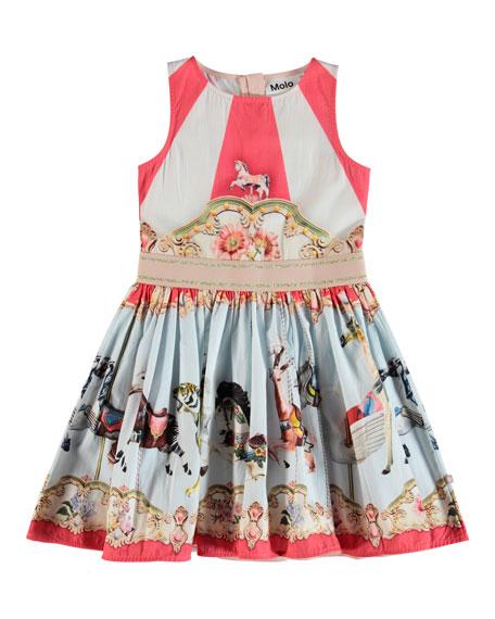 44a53681ec11 Molo Carli Carousel-Print Woven Dress