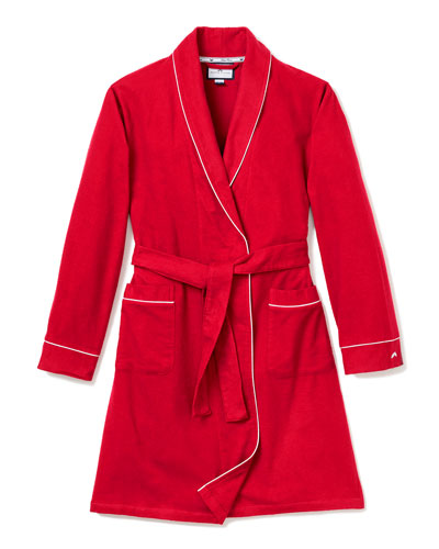 Flannel Contrast-Piping Robe  Size 2-14
