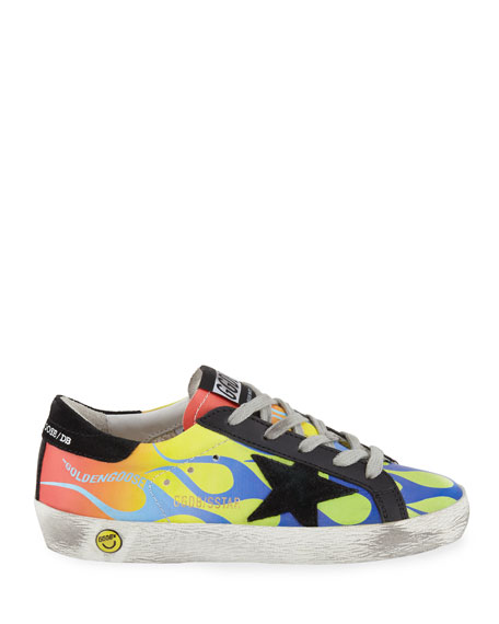 Superstar Leather Flames Low-Top Sneakers, Toddler/Kids