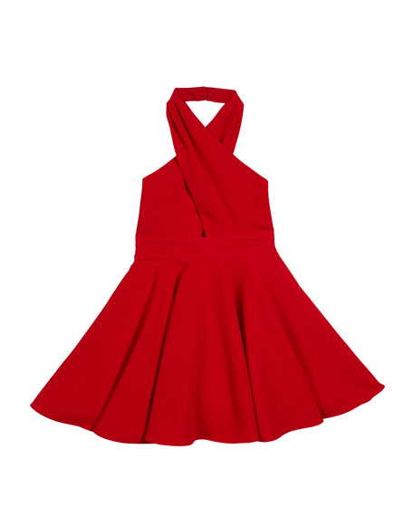 Sydney V-Neck Halter Dress, Size 7-16