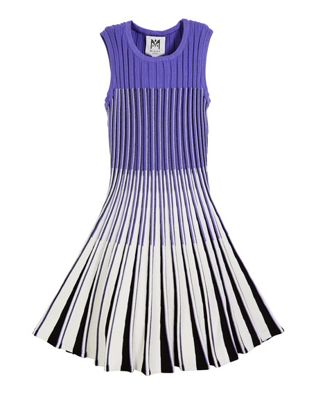 Ombre Flare Knit Dress, Size 7-16