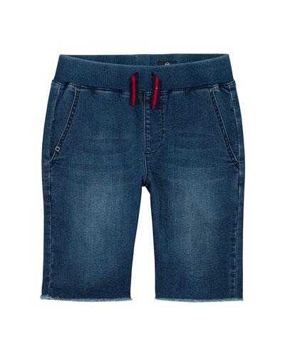 Boys' The Brex Denim Bermuda Shorts w/ Knit Waistband  Size S-L