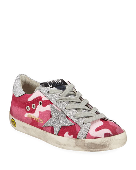 Girls' Superstar Glittered Camo Low-Top Sneakers, Baby/Toddler