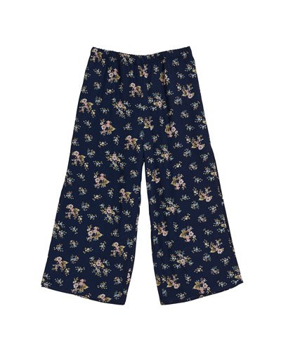 Floral Wide Leg Pants  Size 7-16