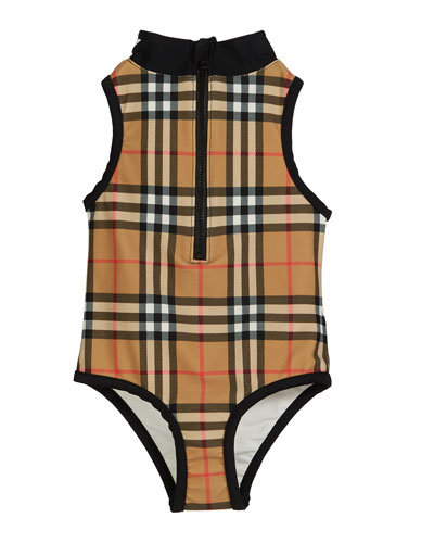 Siera Check One-Piece Swimsuit  Size 3-14