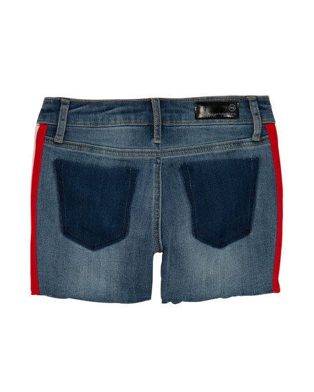 Girls' Brezlyn High-Low Shorts w/ Side Taping, Size 7-14