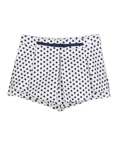 Pleated Polka-Dot Skort  Size 4-7