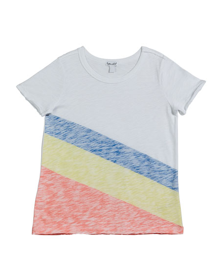 Sunrise Stripe Slub Jersey Top, Size 7-14