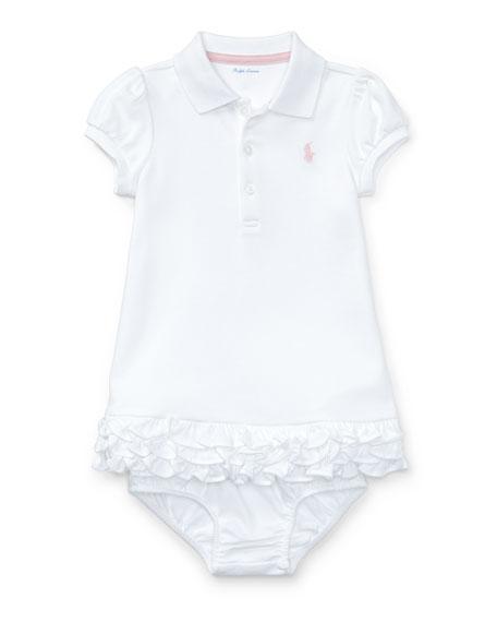 Cupcake Ruffle Hem Polo Dress w/ Bloomers, Size 6-18 Months