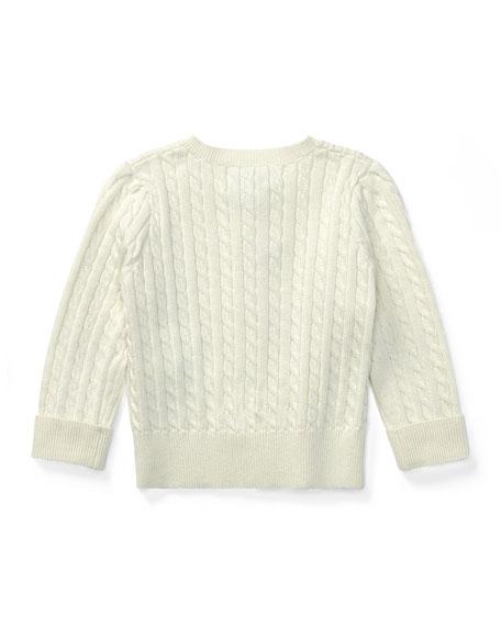 Cable Knit Cotton Cardigan, Size 3-12 Months