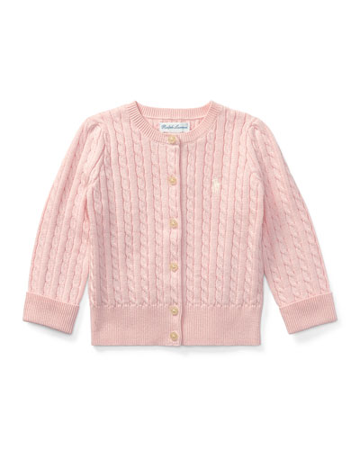 Cable Knit Cotton Cardigan  Size 3-12 Months