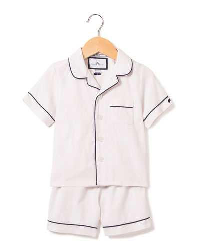Classic Pajama Set w/ Contrast Piping  Size 6M-14