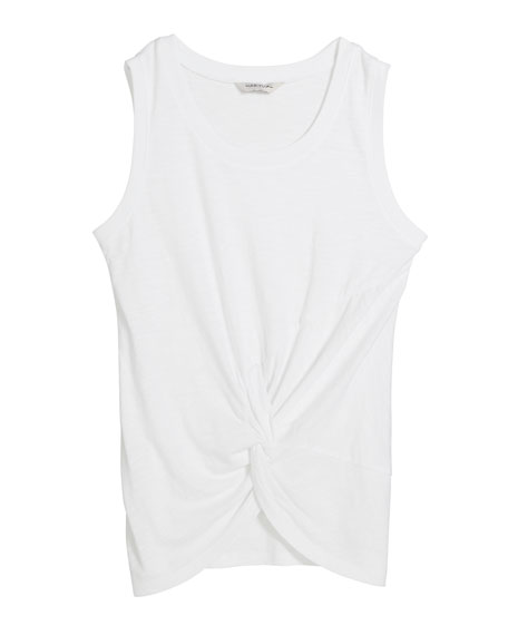 Image 1 of 1: Liliosa Twist Front Tank Top, Size 7-14