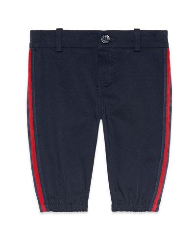 Web Trim Pants w/ Logo Patch  Size 6-36 Months