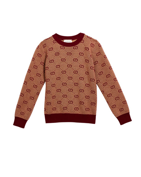 Boy's GG Knit Sweater, Size 4-12