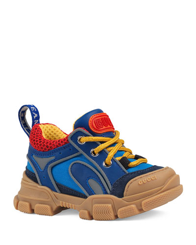 Kid's FlashTrek Leather & Canvas Sneakers  Baby/Toddler