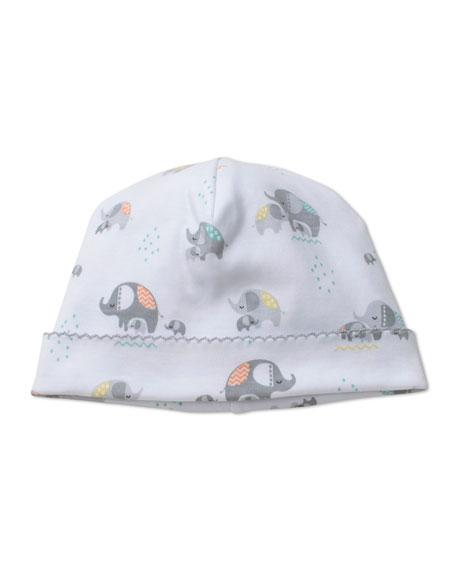 Elephant Hugs Printed Baby Hat