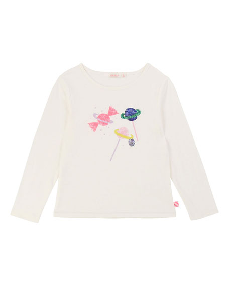 Sequin Scattered Candy Tee, Size 4-12