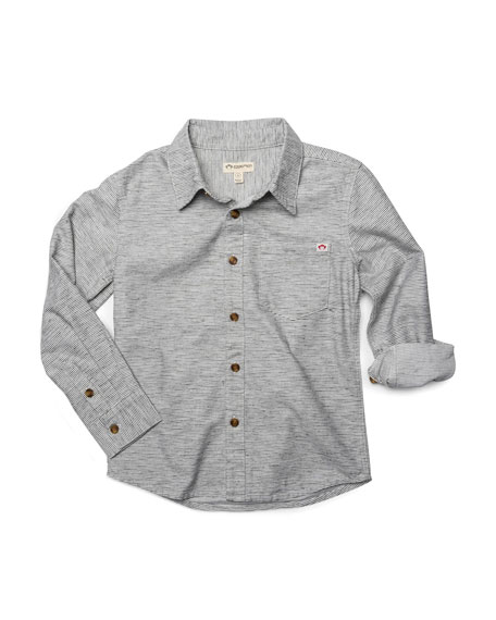 Remy Striped Collared Shirt, Size 2-10