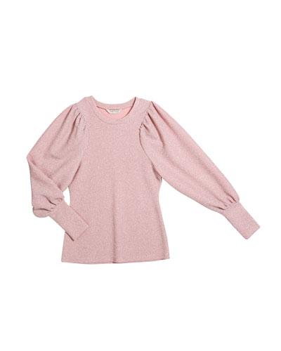 Audrey Metallic Knit Top  Size 7-14