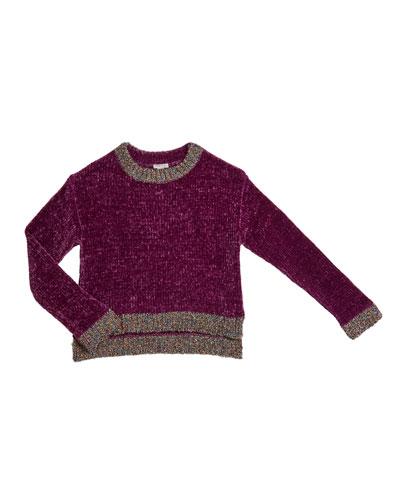 Cassidy Chenille Sweater w/ Metallic Lurex Trim  Size 7-14