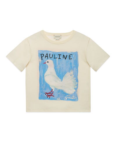 Pauline Dove & Rudy Guinea Pig Jersey Tee  Size 4-12