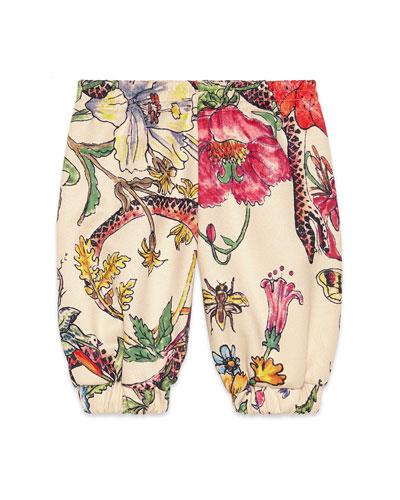 Floral Print Jogger Pants  Size 6-36 Months