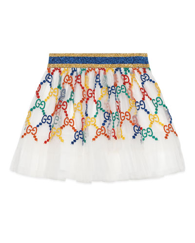 Girls' Iconic Embroidered Tulle Skirt  Size 12-36 Months