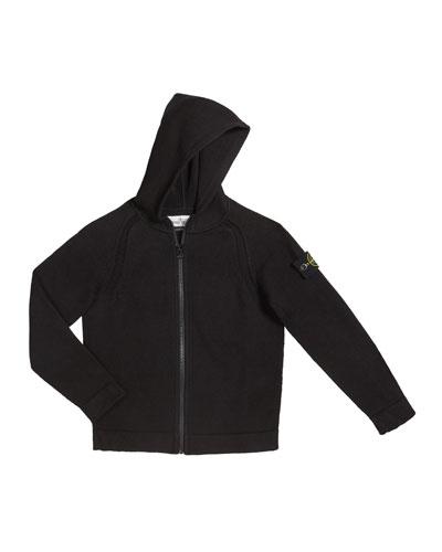 Boy's Knit Zip-Up Hoodie  Size 2-6