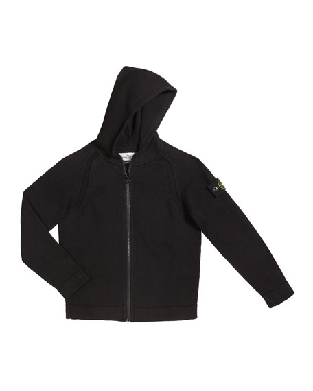 Image 1 of 1: Boy's Knit Zip-Up Hoodie, Size 2-6