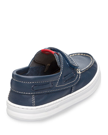 Kid's Leather Grip-Strap Loafers, Toddler/Kids