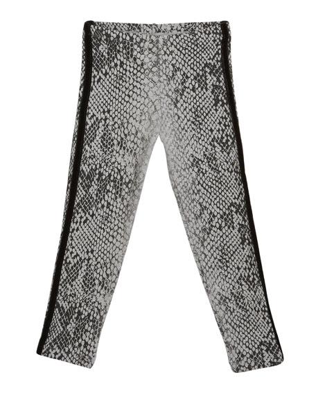 Snakeskin Print Leggings, Size S-XL