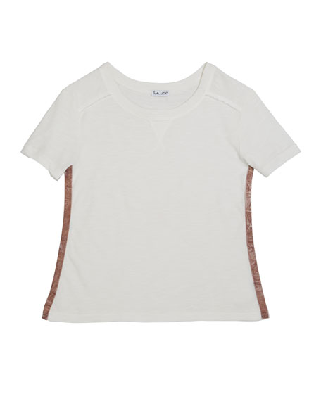 Cotton Slub Short-Sleeve Tee, Size 7-14