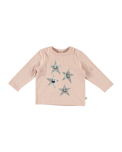 Metallic Star Print Long-Sleeve Tee  Size 6-36 Months