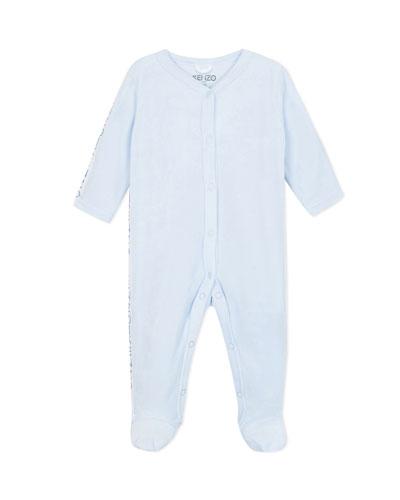 Velour Footie Pajamas w/ Logo Taping  Size 3-9 Months