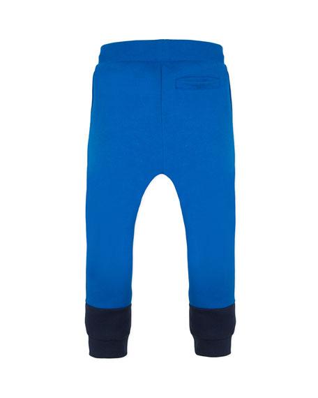 Boy's Two-Tone Sweatpants w/ Logo Taping, Size 2-6