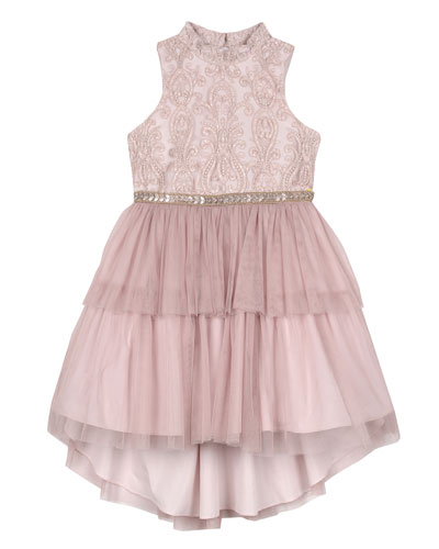 Embroidered Two-Tier Tutu Dress  Size 7-16
