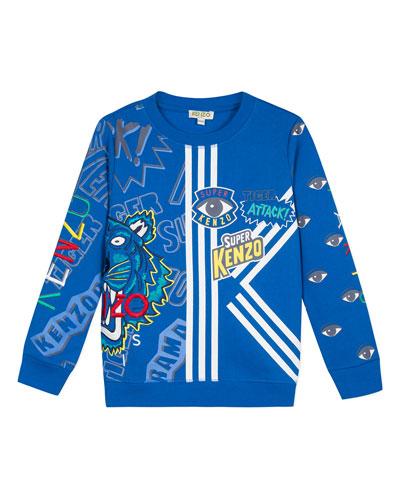 Multi-Iconic Graphic Sweatshirt  Size 8-12