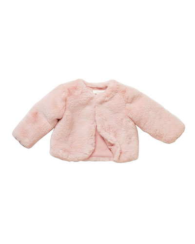 Girls' Faux-Fur Jacket  Size 3-24 Months