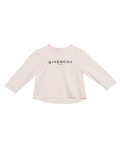 Girl's Long-Sleeve Logo Tee  Size 12M-3