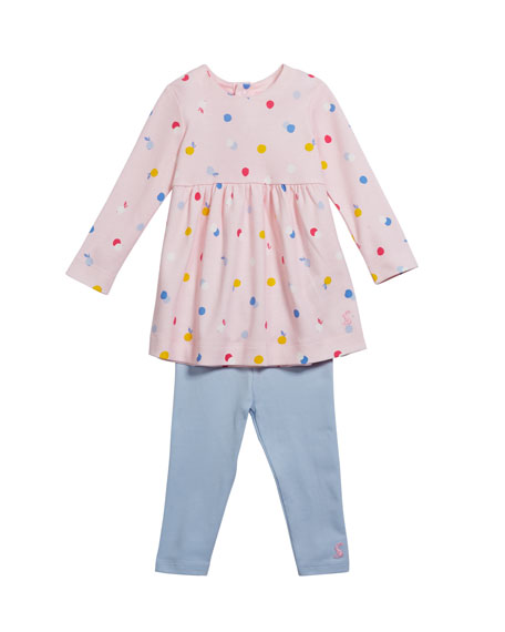 Christina Long-Sleeve Dress w/  Leggings, Size 6-24 Months
