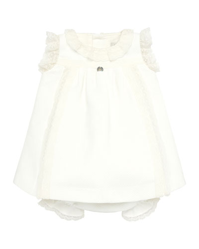Lace Trim Sleeveless Dress w/ Bloomers  Size 3-18 Months