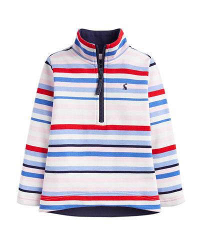 Girl's Fairdale Multicolor Striped Half Zip Pullover  Size 2-6