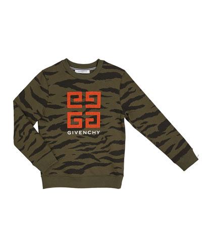 Boy's 4-G Logo Camo Sweatshirt  Size 12-14