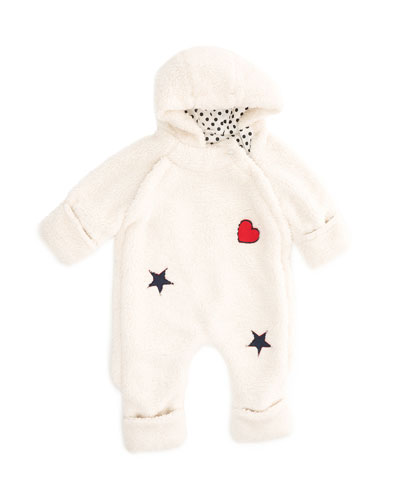 Faux-Fur Coverall Snuggle Suit  Size 0-12 Months