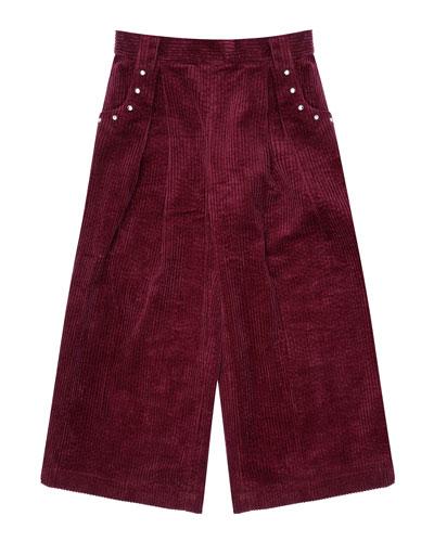 Shannon Wide Leg Velvet Trousers  Size 8-12