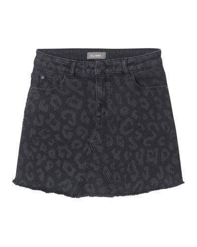 Jenny Tonal Leopard-Print Skirt  Size 7-16
