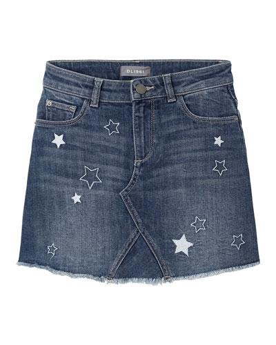 Jenny Stars A-Line Denim Skirt  Size 2-6