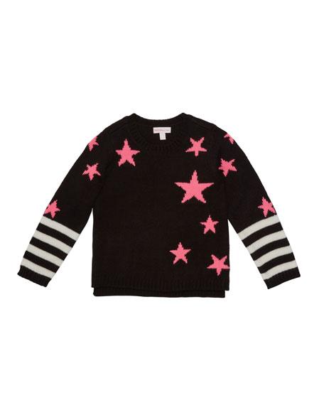 Girl's Star Striped Sweater, Size 2-6X