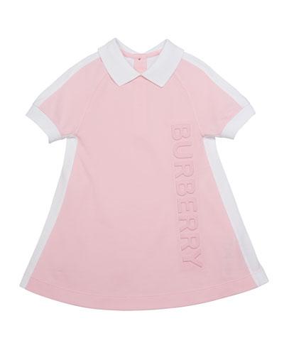 Girl's Stacey Short-Sleeve Logo Polo Dress  Size 3-14